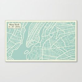 New York USA Map in Retro Style. Canvas Print