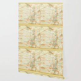 Vintage Map of Thebes Egypt (1894) Wallpaper