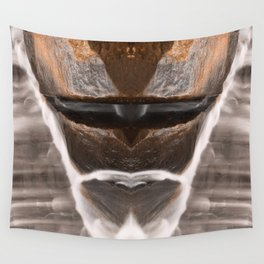 Alien Tribal Mask Wall Tapestry