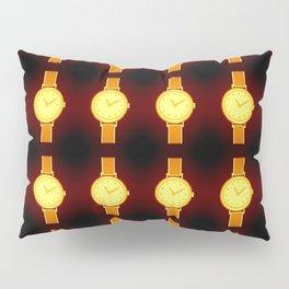 Luminous Wristwatches on Black Illustration Pillow Sham