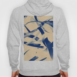 Blue paper stripes Hoody