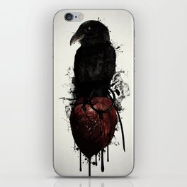 Raven and Heart Grenade iPhone Skin