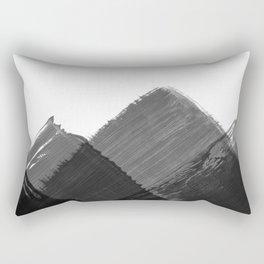 Minimalist Mountain Ink Art Print Rectangular Pillow