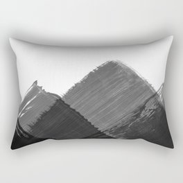 Minimalist Mountain Ink Art Print Rectangular Pillow