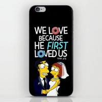 simpson iPhone & iPod Skins featuring Simpson love by LOVEcm