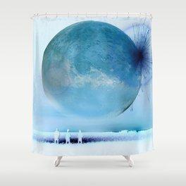 Moon Sparkler Shower Curtain