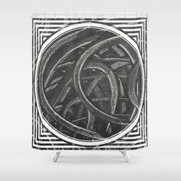 Junction - line/circle graphic Shower Curtain