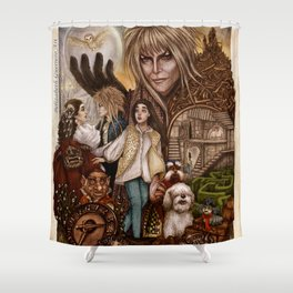 Labyrinth Tribute Shower Curtain