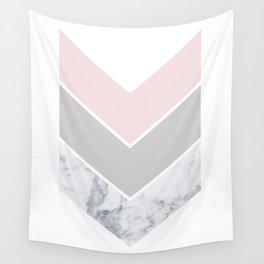 Scandinavian Marble Blush Gray Wall Tapestry
