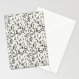 Black and White feather pattern faded Stationery Cards