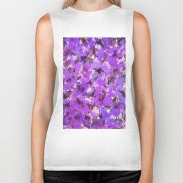 Red Violet Field Flowers Biker Tank