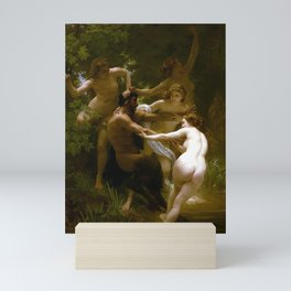 William-Adolphe Bouguereau - Nymphs and Satyr Mini Art Print