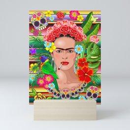 Frida Kahlo Floral Exotic Portrait Mini Art Print
