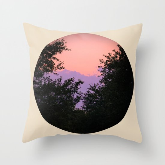 Clouds As Mountains Circular Throw Pillow