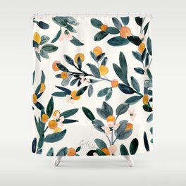 Clementine Sprigs Shower Curtain