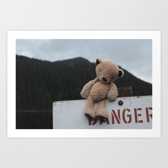 Be Bear Aware Art Print