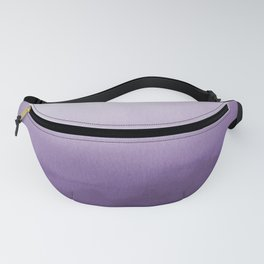 Inspired by Pantone Chive Blossom Purple 18-3634 Watercolor Abstract Art Fanny Pack