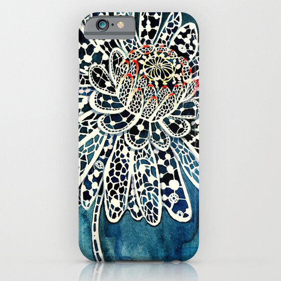 Flower Paintings: Lace Flower iPhone & iPod Case