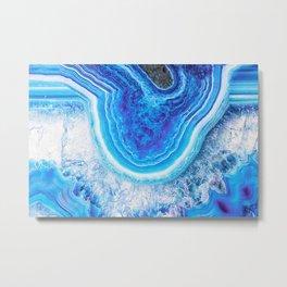 Blue agate 0397 Metal Print