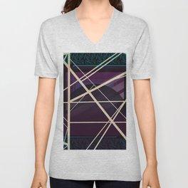 Crossroads - purple graphic Unisex V-Neck