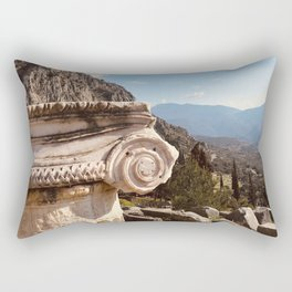 Delphi Oracle, Pytho, Greece lovers, ancient Greece photography, Greek temple, Oracle of Delphi, Rectangular Pillow
