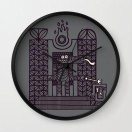 Lizardpeople Rule, Humans Drool Wall Clock