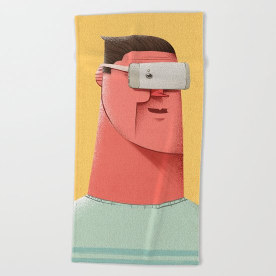 New Reality Beach Towel