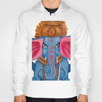 ganesh Hoodies featuring Ganesh by Jaclyn Sage