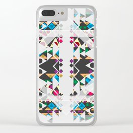 basic Shapes Pattern 3 - Diamonds Clear iPhone Case
