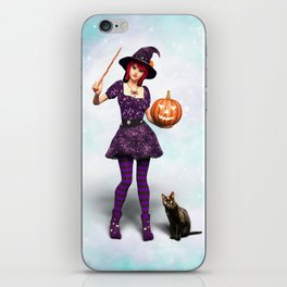 Cute Halloween Witch iPhone Skin