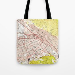 Vintage Map of Burbank California (1953) Tote Bag