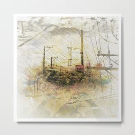 TwinPeaks SanFrancisco exploded artful Island Metal Print