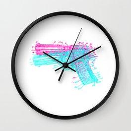 Gun Diagram Wall Clock