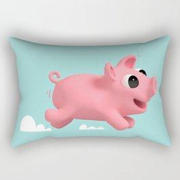 Rosa the Pig running Rectangular Pillow