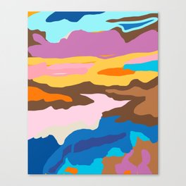Shape and Layers no.19 - Abstract Modern Landscape Canvas Print