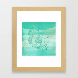 Watercolor - Mermaid Tail Framed Art Print