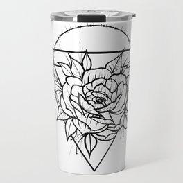 Crown Of Thorns - B&W Travel Mug