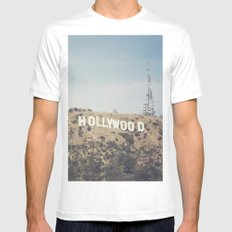 Hike to the Sign MEDIUM White Mens Fitted Tee