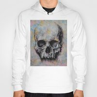 medieval Hoodies featuring Medieval Skull by Michael Creese