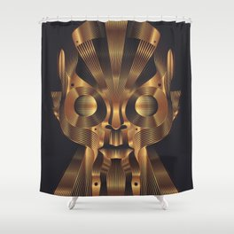 Art Robot Shower Curtain