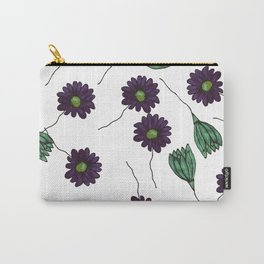 purple green floral pattern Carry-All Pouch