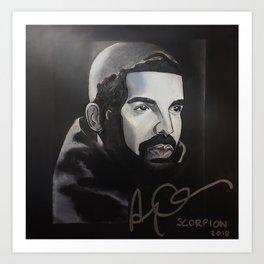 scorpion album,ovo,rapper,colourful,colorful,poster,wall art,fan art,music,hiphop,rap,rapper Art Print