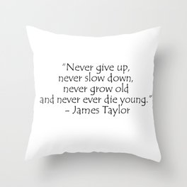 James Taylor, typography Throw Pillow