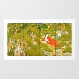 Tsuchida Bakusen - Serving Girl in a Spa Art Print