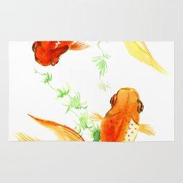 Goldfish, Feng Shui Asian Watercolor Rug