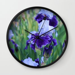 Purple Flags Wall Clock