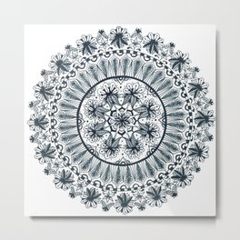 Awaken Nature Mandala Metal Print