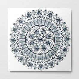 Awaken Nature Mandala Metal Print