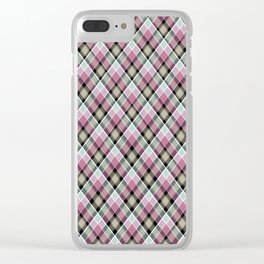 Plaid 20 Clear iPhone Case