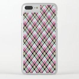 Plaid 20 Clear iPhone Case